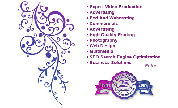 We are celebrating our 25th year in business, Our main expertise is Expert & Award Winning Video Productions, from Pod casting to  Web casting, on line and TV Commercials. We also offer Creative Services: Logo Design, Advertising, Brochures, Photography, Presentations, Custom Illustrations, Power Point, Flash, PDF, Slides, Web Design, Multimedia, Direct Mail & SEO or Search Engine Optimization.